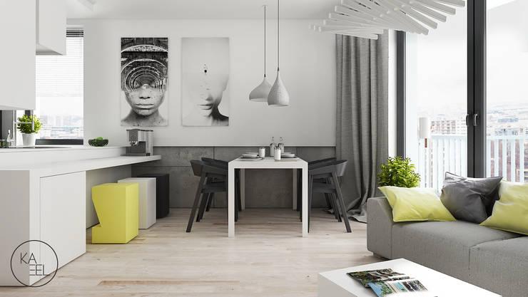 OGRODOWA: styl , w kategorii Jadalnia zaprojektowany przez KAEL Architekci