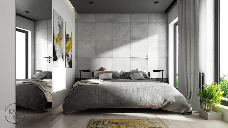 OGRODOWA: styl , w kategorii Sypialnia zaprojektowany przez KAEL Architekci