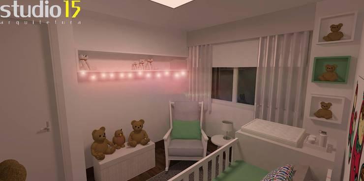 KO_Baby – Lima, Peru: Quarto de crianças  por Studio 15 Arquitetura,