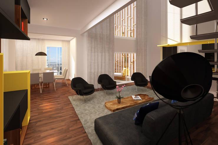 Residência Ventura Ladalardo: Salas de jantar  por Ana Carolina Cardoso Arquitetura e Design,