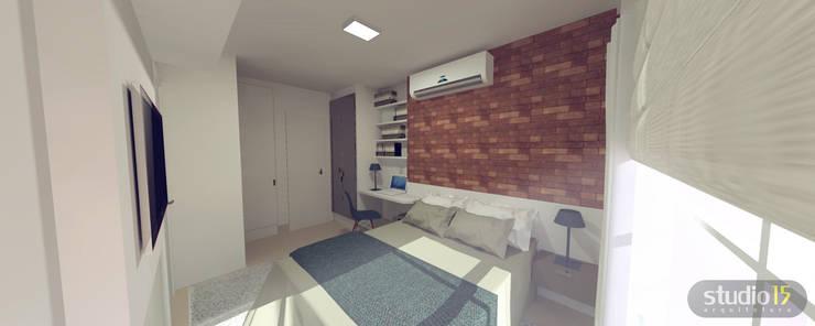 Dormitório: Quarto  por Studio 15 Arquitetura,
