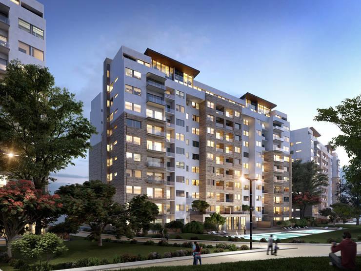 Vía Montejo : Terrazas de estilo  por Grow Arquitectos