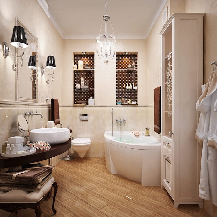 Salle de bains de style  par Студия дизайна Interior Design IDEAS