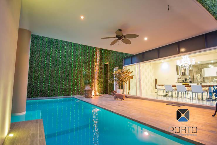Projekty,  Ogród zaprojektowane przez PORTO Arquitectura + Diseño de Interiores