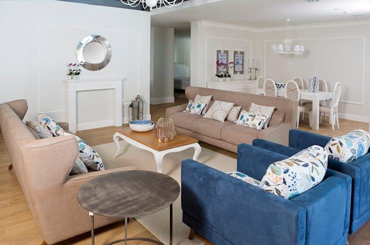 Ambiente de sala de estar: Sala de estar  por Alfama Home Vintage