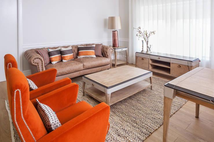 Projekty,  Salon zaprojektowane przez Alfama Home Vintage
