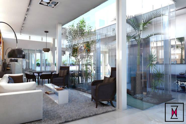 Living room by Estúdio Klee, Modern Glass