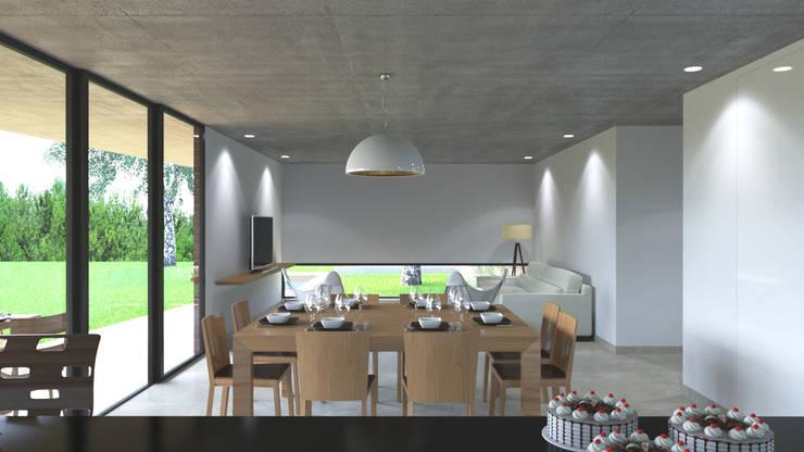 Projekty,  Salon zaprojektowane przez D+D Studio