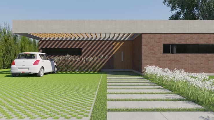 Casa Barcia: Casas de estilo  por D+D Studio