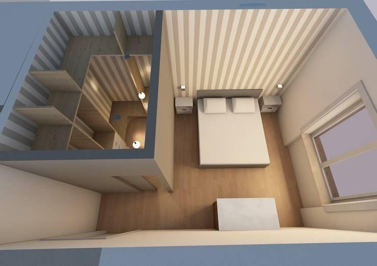 Camera con cabina armadio:  in stile  di SuMisura