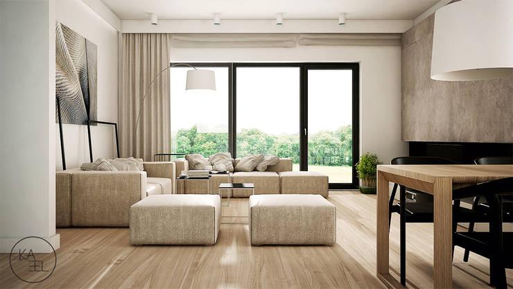 POD LIPAMI: styl , w kategorii Salon zaprojektowany przez KAEL Architekci