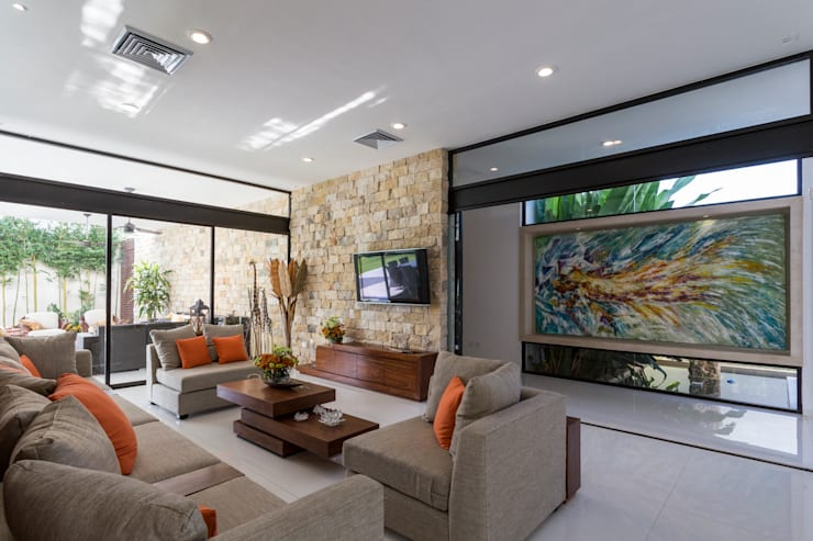 modern Living room by P11 ARQUITECTOS