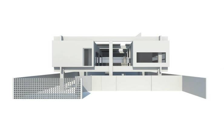 CASA U: Casas  por Thiago Borges Mendes Arquitetura,