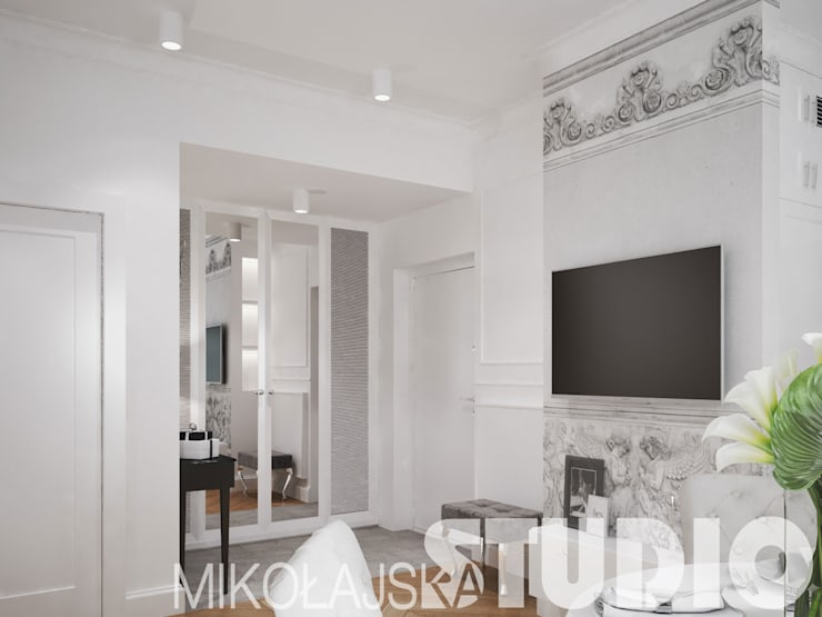apartament-glamour: styl , w kategorii  zaprojektowany przez MIKOŁAJSKAstudio