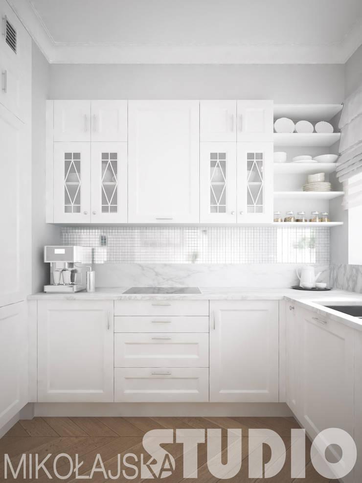 kitchen-glamour-style: styl , w kategorii  zaprojektowany przez MIKOŁAJSKAstudio
