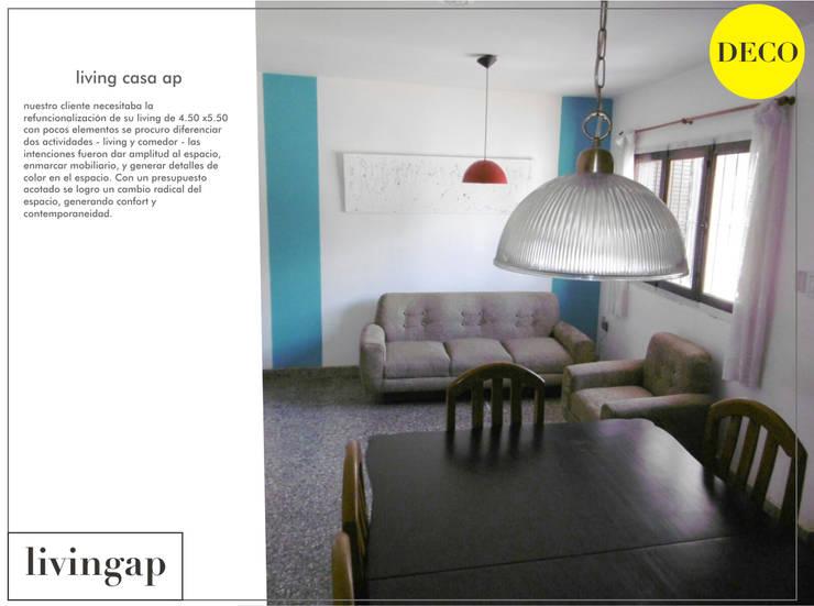 Living AP Livings modernos: Ideas, imágenes y decoración de LOSAVALOS - Oficina de Arquitectura Moderno