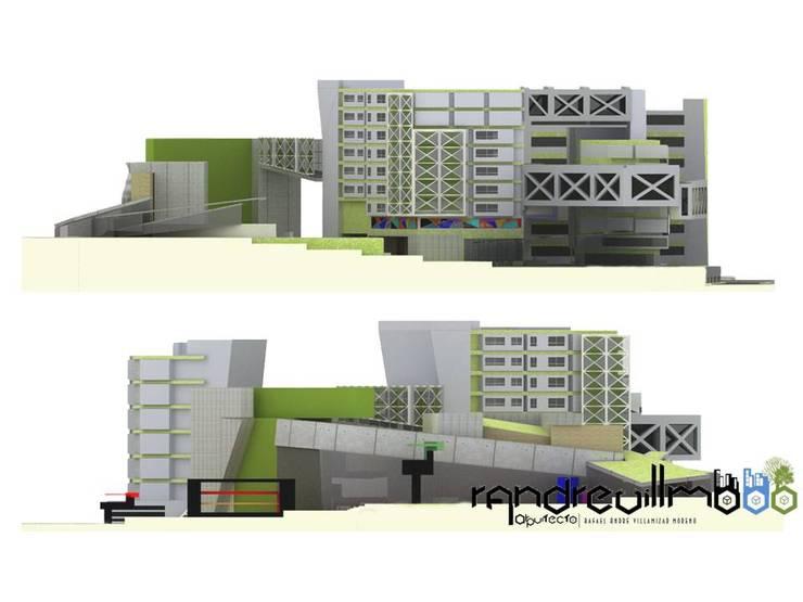 PROPUESTA DE ARQUITECTURA HOTEL BOUTIQUE  - MUSEO COMTEMPORANEO: Hoteles de estilo  por RAVM Arquitecto