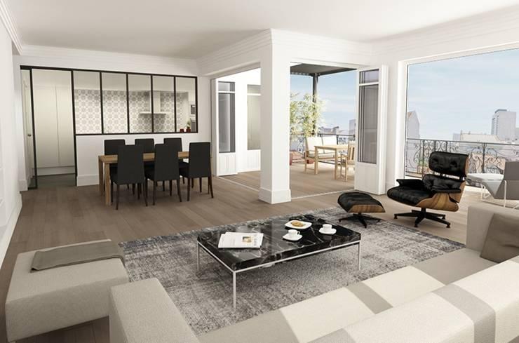 T3 Lisbon Luxury Apartment: Salas de estar  por EU LISBOA