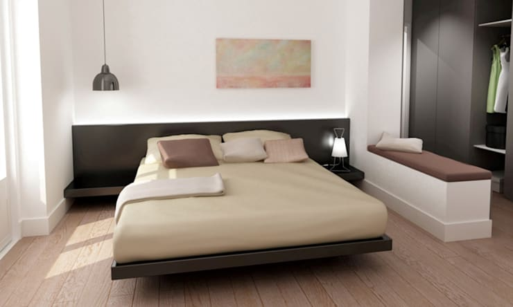 T3 Lisbon Luxury Apartment: Quartos modernos por EU LISBOA
