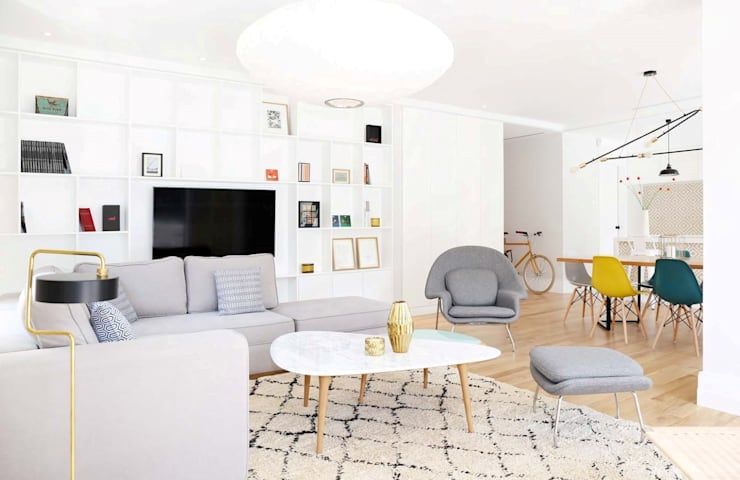 T3 Lisbon Luxury Apartment: Salas de estar  por EU LISBOA