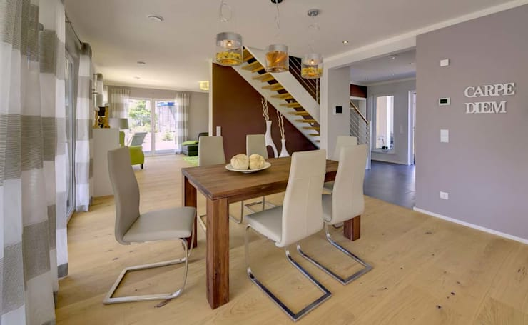 Salas de jantar  por Licht-Design Skapetze GmbH & Co. KG