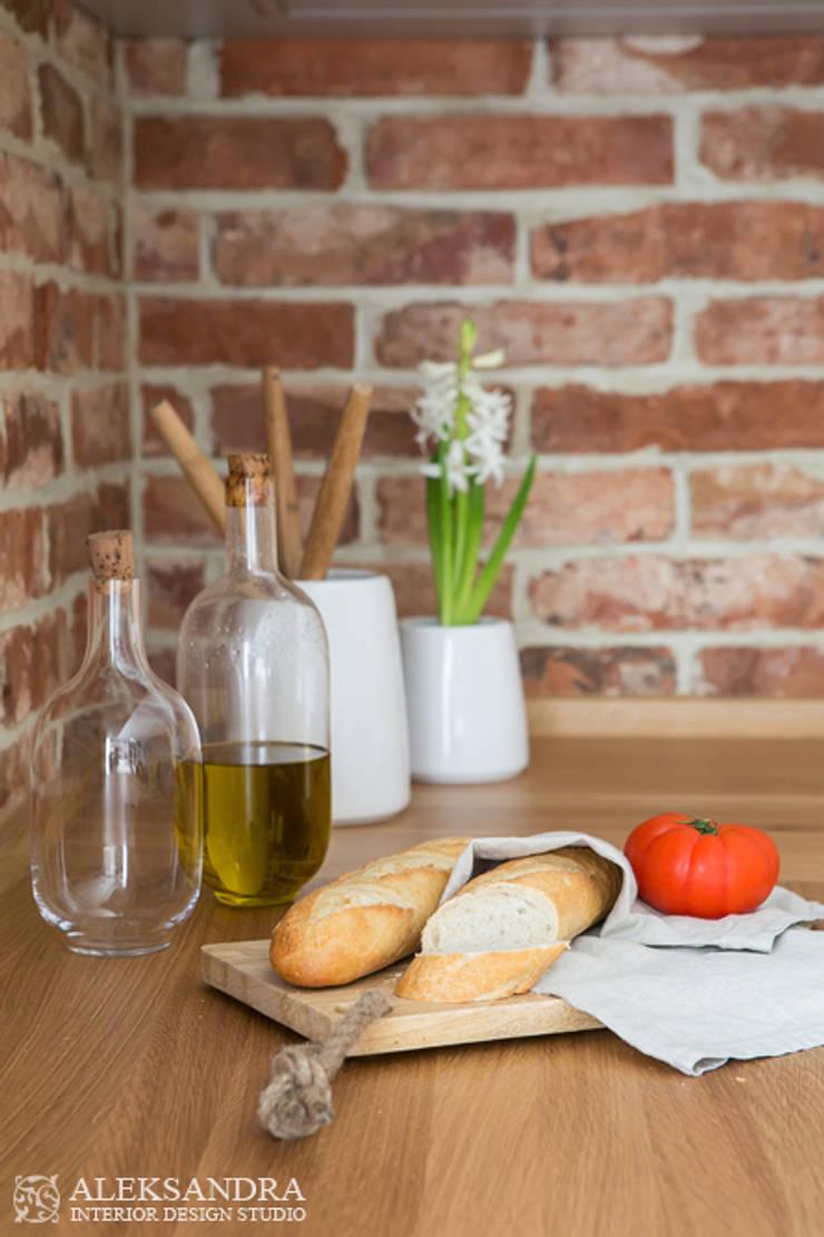 Apartament we Wrocławiu: styl , w kategorii Kuchnia zaprojektowany przez ALEKSANDRA interior design studio
