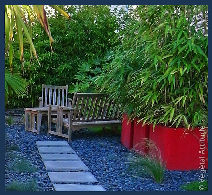 Jardines de estilo moderno por Végétal Attitude