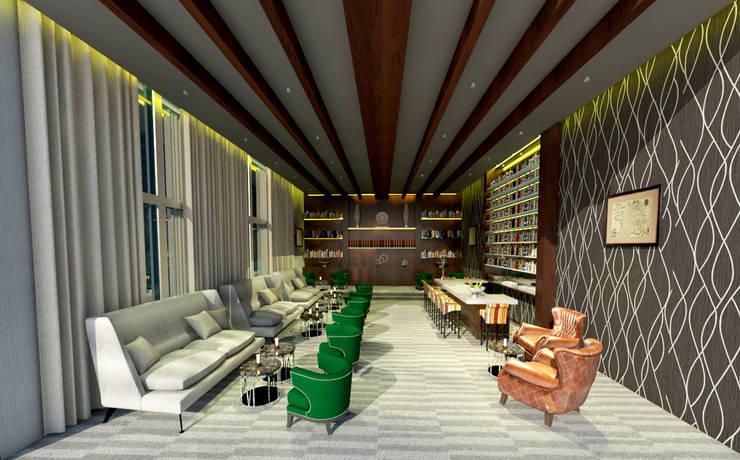 O Bar do Hotel: Hotéis  por Rangel & Bonicelli Design de Interiores Bioenergético,