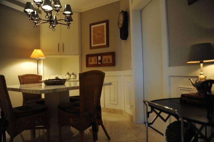 Apartamento Perdizes - São Paulo: Salas de jantar  por veronica gaburro arquitetura e interiores,
