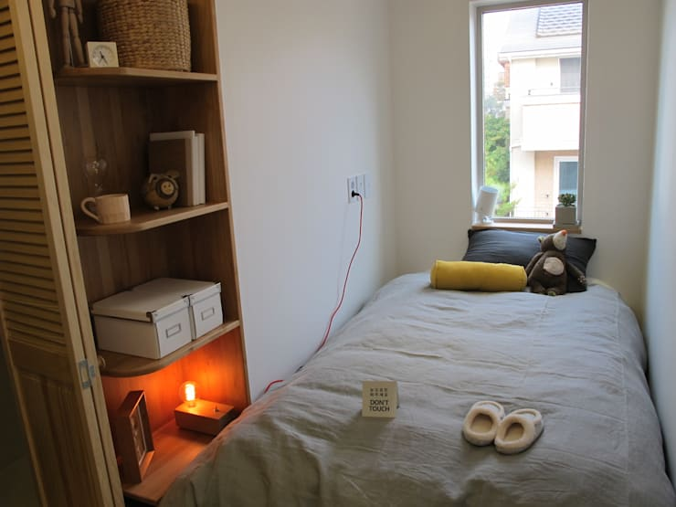 Спальни в . Автор – 루트 주택