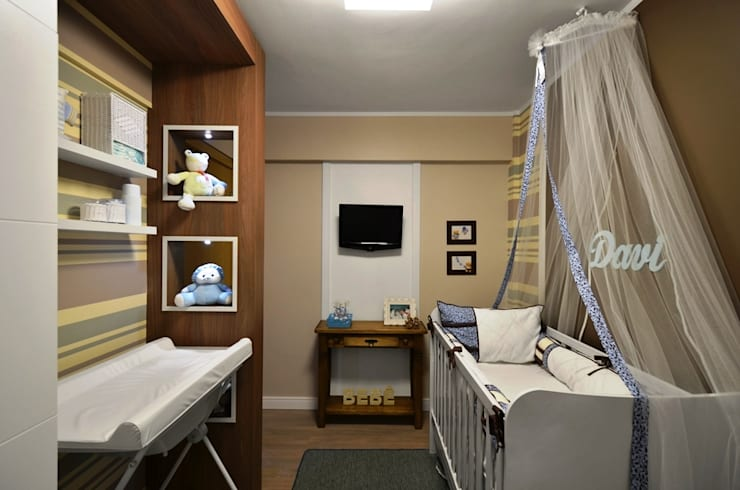 Dormitorios infantiles de estilo  de NATALIA ELLWANGER ARQUITETUTA, Moderno Tablero DM