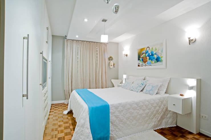Projekty,  Sypialnia zaprojektowane przez Patrícia Azoni Arquitetura + Arte & Design