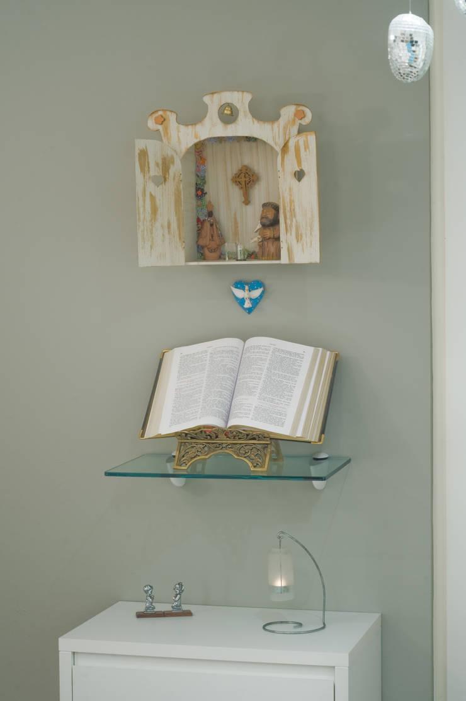 Спальни в . Автор – Patrícia Azoni Arquitetura + Arte & Design, Эклектичный