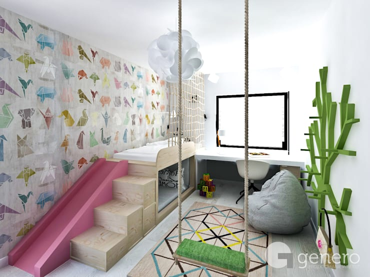 Dom z Antresolą: styl , w kategorii Pokój dziecięcy zaprojektowany przez GENERO,Nowoczesny