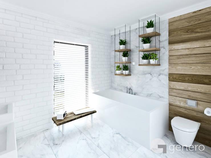 Dom z Antresolą: styl , w kategorii Łazienka zaprojektowany przez GENERO,Nowoczesny