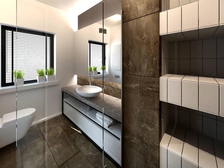 Dom w Tarnowie Podgórnym: styl , w kategorii Łazienka zaprojektowany przez GENERO