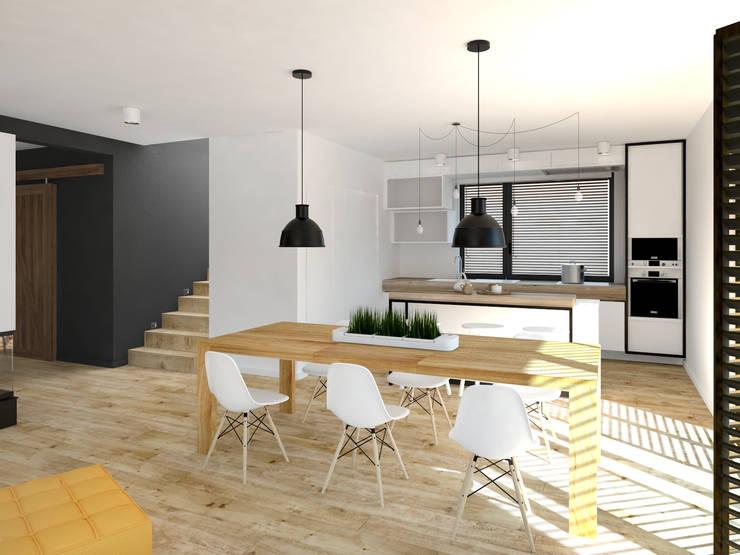 Dom w Tarnowie Podgórnym: styl , w kategorii Salon zaprojektowany przez GENERO