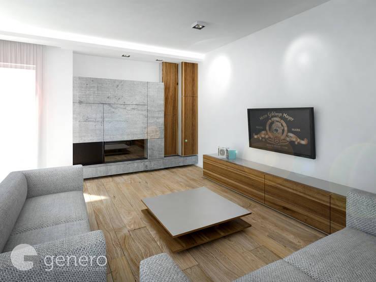Dom pod Poznaniem: styl , w kategorii Salon zaprojektowany przez GENERO