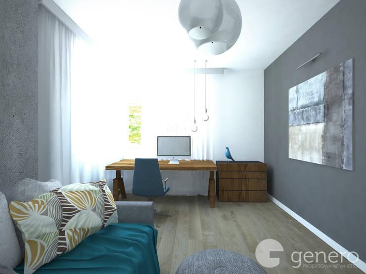 Dom pod Poznaniem: styl , w kategorii Domowe biuro i gabinet zaprojektowany przez GENERO