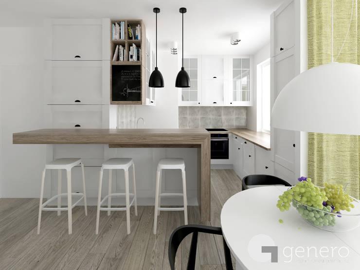 Mieszkanie w Poznaniu: styl , w kategorii Kuchnia zaprojektowany przez GENERO,Nowoczesny