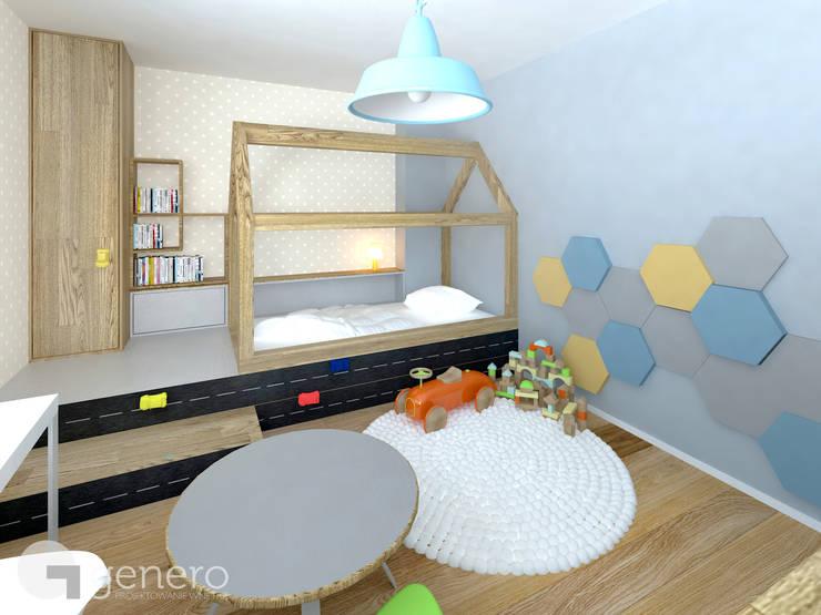 Dom pod Poznaniem: styl , w kategorii Pokój dziecięcy zaprojektowany przez GENERO