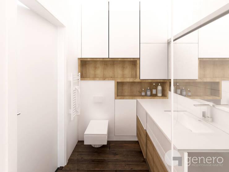 Mieszkanie w Poznaniu: styl , w kategorii Łazienka zaprojektowany przez GENERO,Nowoczesny