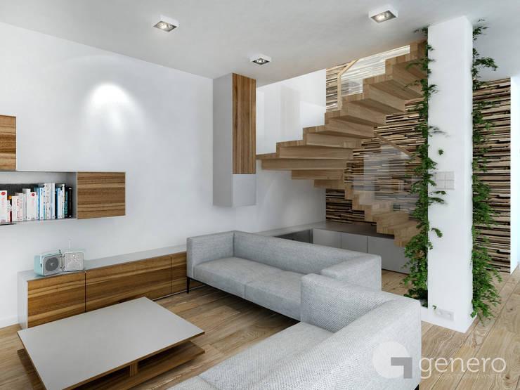Dom pod Poznaniem: styl , w kategorii Korytarz, przedpokój zaprojektowany przez GENERO