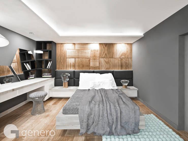 Dom pod Poznaniem: styl , w kategorii Sypialnia zaprojektowany przez GENERO