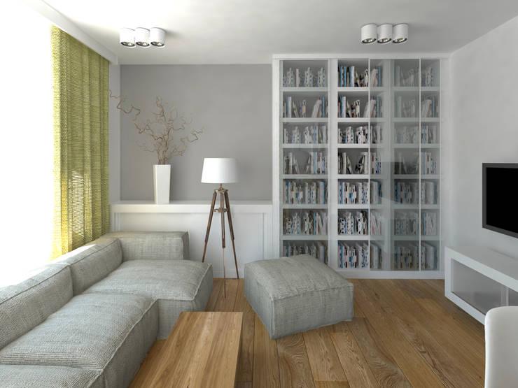 Mieszkanie w Poznaniu: styl , w kategorii Salon zaprojektowany przez GENERO,Nowoczesny