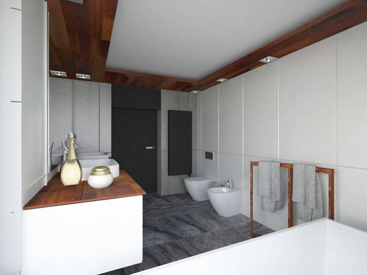 Dom pod Poznaniem: styl , w kategorii Łazienka zaprojektowany przez GENERO