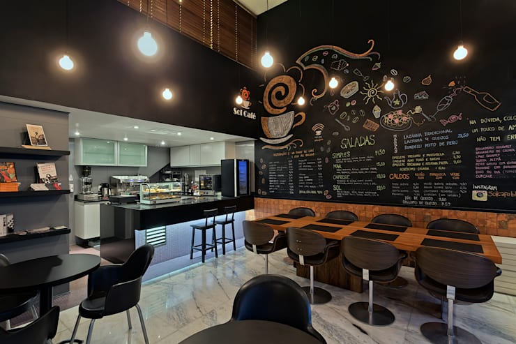 Bares y Clubs de estilo  de Piacesi Arquitetos, Moderno