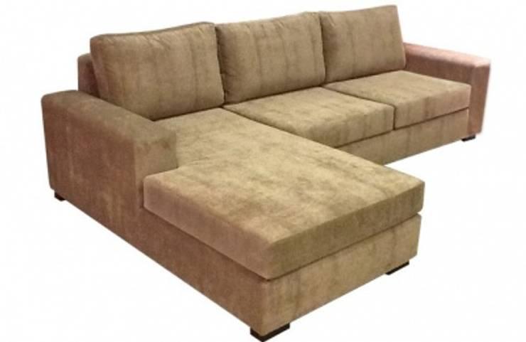 esquinero  sofia:  de estilo  por rosario sofas,Moderno Madera maciza Multicolor