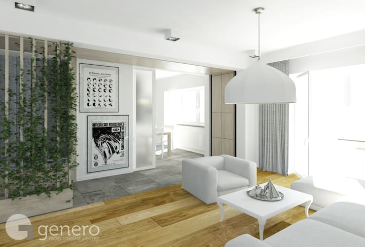 Living room by GENERO, Modern