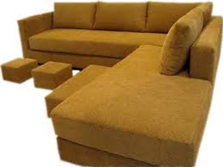 """esquinero  """"sofia"""":  de estilo  por rosario sofas,Moderno Madera maciza Multicolor"""